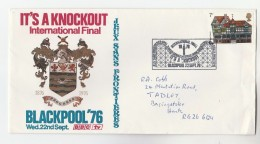 BLACKPOOL 1976 BBC Television ITS A KNOCKOUT TV Show FINAL EVENT COVER, Gb Stamps Broadcasting Heraldic - Briefe U. Dokumente