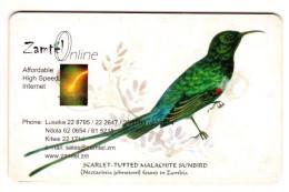 ZAMBIE REF MV CARDS ZAM-Z-03 TUFTED MALACHITE SUNBIRD