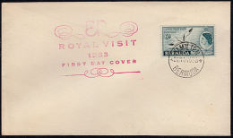 A5599 BERMUDA 1953, SG151 Royal Visit  FDC - Bermuda
