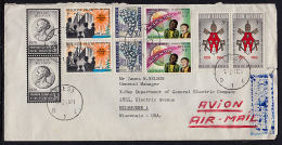 A5602 BELGIUM 1966, Cover To USA From Liege With 2 @ Peace On Earth Issue - Covers & Documents