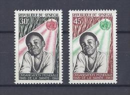 SENEGAL . YT 313/314 Neuf ** 20e Anniversaire De L'O.M.S. 1968 - Senegal (1960-...)