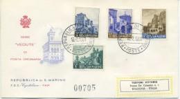 SAN MARINO - FDC CAPITOLIUM F.A.I.P. 1961 - VEDUTE - PAESAGGI - VIAGGIATA - FDC