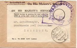 Grande Bretagne Lettre Militaire De Service 1945 - Postmark Collection