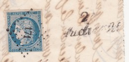 N° 4.  PC 171. FINISTERE AUDIERNE. + CURSIVE 28/ AUDIERNE (indice 19 400€ )  / 7884 - 1849-1850 Ceres