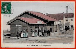 CPA 45 SANDILLON Loiret - La Gare Provisoire ° Rousseau éditeur - France