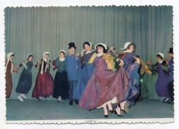 """Sarthe--Groupe Folklorique""""La Gouline""""--L'entrée De Bidoche--La Farandole (très Animée),cpsm 15 X 10 N° 4 éd Spadem - Danses"""