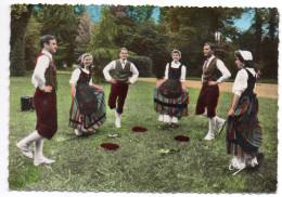 """Pyrénées--Groupe Folklorique""""Troubadours Montagnards""""--La Danse Du Béret(très Animée),cpsm 15 X 10 N° 116 éd Elcé - Danses"""