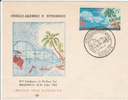 Nouméa 1962 - FDC 1er Jour Conférence Du Pacifique Sud à Pago-Pago Samoa - Calédonie - FDC