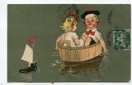 CPA Illustrateur  :  Humour Petit Marin Avec Petite Fille    A    VOIR  !!! - Illustratori & Fotografie