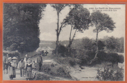 Carte Postale 29. La Forêt De Fouesnant  Le Chemin Creux De La Cale Trés Beau Plan - Fouesnant