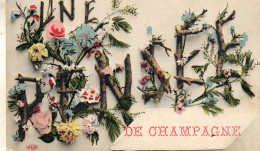 UNE PENSEE DE CHAMPAGNE  COIN CASSE  EN BAS GAUCHE - France