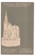 Ancienne  Carte Postale  Parfumerie PINAUD  Carte En Relief  Pavillon De L´Allemagne Exp. 1900 - Perfume Cards