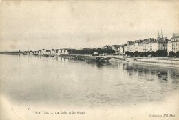 71  MACON   La  Saone Et Les Quais - Macon