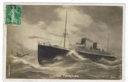 Carte Photo    La Touraine - Dampfer