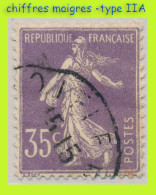 N° 136 SEMEUSE CAMÉE FOND PLEIN CHIFFRES MAIGRES 1906 - TYPE IIA - OBLITÉRÉ B - - 1906-38 Semeuse Camée