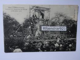MERY-CORBON (Calvados) Souvenir De La Bénédiction Du Calvaire (5 Novembre 1922) (Clichés Recto-verso) - Autres Communes