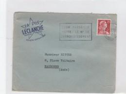 MULLER 25F MARSEILLE 17/7/59 LA PLIE LECLANCHE POUR NARBONNE      TDA001 - Marcofilia (sobres)