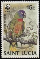 ST. LUCIA - Scott #902  Amazona Versicolor / Used Stamp - St.Lucia (1979-...)