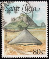 ST. LUCIA - Scott #908 Amerindian Artifact / Used Stamp - St.Lucia (1979-...)