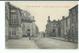 55 LIGNY En BARROIS Porte De Givrauvalet Route De Neufchâteau , Cycliste , Charette , Façade Restaurant - Ligny En Barrois