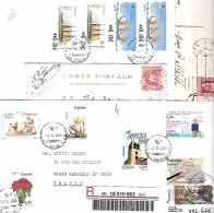Espagne Lot De 4 Courriers Dont Deux Cartes Postales - Espagne