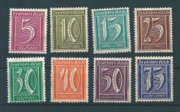MiNr. 177, 178, 179, 180, 181, 182, 183 + 185  ** Ziffern WZ 2 (Waffeln) - Germany
