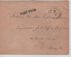 Lettre En Port Payé C.Bruxelles 24/11/1918 V.E/V PR3404 - Postmark Collection