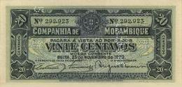 MOZAMBIQUE 20 CENTAVOS 1933 P-R29 UNC  [ MZR29 ] - Mozambique