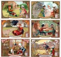Trade Card. Série De 6 Chromos Liebig : Enfants De # Nationalités. Russie, Italie, France, Espagne, Hollande, Ecosse. - Liebig