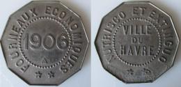 Jeton Fourneaux Economique Du HAVRE 1906 - Monétaires / De Nécessité