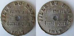 Jeton Fourneaux Economique Du HAVRE  1917 - Monétaires / De Nécessité