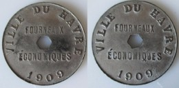 Jeton Fourneaux Economique Du HAVRE  1909 - Monétaires / De Nécessité