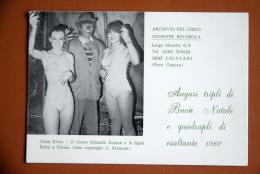 CARTE VOEUX CIRQUE CIRCO GIUSEPPE RIVAROLA 1980  CIRCUS CARD - Fêtes - Voeux