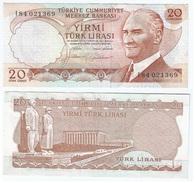 Turquía - Turkey 20 Lirasi 1974 (L1970) Firmas En Marrón Pick 187.b Ref 445 - Turquia