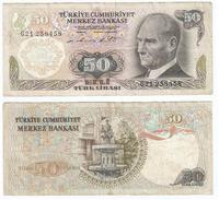 Turquía - Turkey 50 Lirasi 1976 (L1970) Pick 188(II) Ref 860 - Turquia