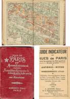 Plan De Paris Par Arrondissement  A . LECONTE Editeur - Dépliants Touristiques