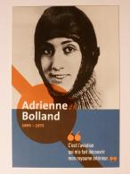 Adrienne BOLLAND - Aviatrice / Pilote Avion - Femme Célèbre - Carte Publicitaire RATP Station Prolongement Tram T3 - Mujeres Famosas