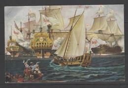 MARINE-GALERIE Nr. 196 - Der Große Kurfürst Und Seine Flotte Auf Der Nordsee Bei Emden - Nicht Gelaufen - Schiffe