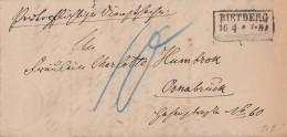 DR Brief R2 Rietberg 16.4.1875 Gel. Nach Osnabrück Mit Inhalt - Deutschland