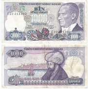 Turquía - Turkey 1.000 Lirasi 1986 (L1970) Pick 195(I) Ref 866 - Turquia