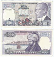Turquía - Turkey 1.000 Lirasi 1986 (L1970) Pick 195(I) Ref 867 - Turquia