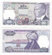 Turquía - Turkey  1.000 Lirasi 1986 (L1970) Pick 196(II) Ref 868 - Turquia