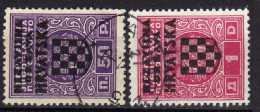 Kroatien (NDH)Portomarken 1941 Mi 1-2, Gestempelt [270816XVI] - Croatia