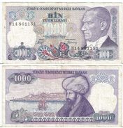 Turquía - Turkey  1.000 Lirasi 1986 (L1970) Pick 196(II) Ref 869 - Turquia