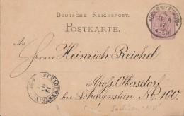 DR GS Ankunftsstempel Nachv. Sachsenstempel Scharfenstein 12.4.77 - Briefe U. Dokumente