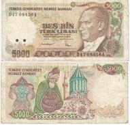 Turquía - Turkey  5.000 Lirasi 1985 (L1970) Pick 197(I) Ref 870 - Turquia