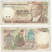 Turquía - Turkey  5.000 Lirasi 1985 (L1970) Pick 197(I) Ref 444 - Turquia