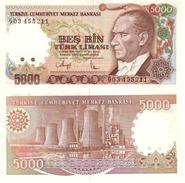 Turquía - Turkey  5.000 Lirasi 1990 (L1970)  Pick 198(II) UNC - Turquia