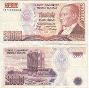 Turquía - Turkey 20.000 Lirasi 1988 (L 1970) Firmas En Negro Pick 201 Ref 878 - Turquia