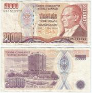 Turquía - Turkey 20.000 Lirasi 1995 (L 1970) Firmas En Naranja Pick 202 Ref 879 - Turquia